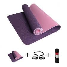 best tpe yoga mat 6mm no slip yoga mat for fitness gym pilates colchonete pad 183 61 0 6cm sport mat with yoga bag strap shoulder
