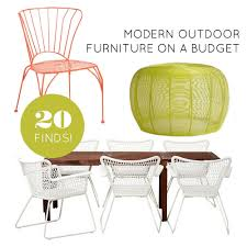 modern patio furniture. Here Are 20 Perfect Pieces To Furnish Your Outdoor Space On A Budget. Modern Patio Furniture F