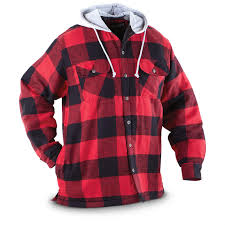 Canyon Guide® Quilted Hooded Flannel Shirt - 227339, Shirts at ... & Canyon Guide® Quilted Hooded Flannel Shirt, Red Adamdwight.com