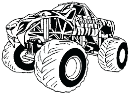 Grave Digger Monster Truck Coloring Pages Grave Digger Coloring
