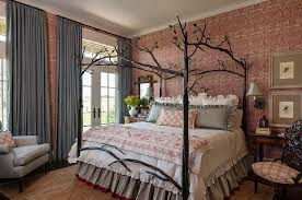 styles of bedroom furniture. View In Gallery Farmhouse Style Bedroom With Custom Bed And Striking Wallpaper [From: Maison Interior Design Styles Of Furniture