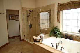 bathroom: Cozy Bathroom With Awesome White Jacuzzi Bathtub And Astounding  Frameless Shower Enclosure Also Fancy