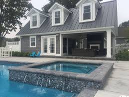 pool house kitchen. Kalamazoo Pool With Integrated Hot Tub, House, And Outdoor Kitchen House