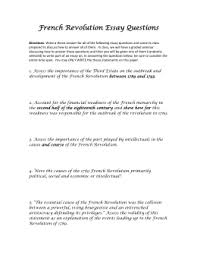 causes of the french revolution dbq documents french revolution essay questions wikispaces