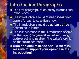parts of an expository essay  introduction  body paragraphs  introduction paragraphs  the first paragraph of an essay is called the introduction