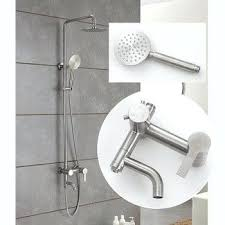 stainless steel silver brushed wall mount modern shower faucets best fixtures home depot moen systems bathroom faucets