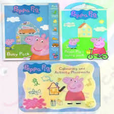 Details About Peppa Pig Activitycollection Colouring Pad Carry Set Height Chart 3 Books Set