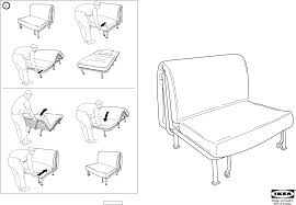 Download IKEA LYCKSELE FRAME CHAIR BED Assembly Instruction for