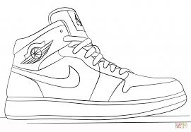 Coloring Pages Nike Jordan Sneakersg Page Free Printable Pages Air