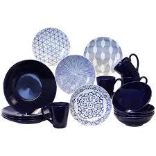 ideas  tips blue white  piece dinnerware set mikasa french
