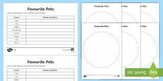 Pie Charts Differentiated Worksheets Ks2 Primary Resource