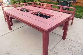Table With Drink Trough Patio Table With Built In Ice Boxes How To Build Youtube