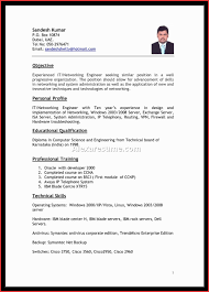 abroad resume format New sample resume for overseas jobs free resume example  and writing