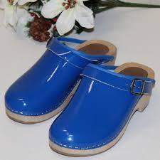 John Fluevog Size Chart Cape Clogs Girls 34 Made In Sweden Royal Blue