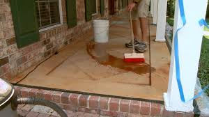 how to score and acid stain a concrete slab porch or patio today s homeowner
