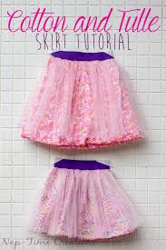 cotton and tulle skirt tutorial from nap time