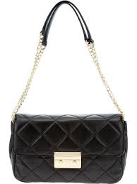 Lyst - Michael michael kors Quilted Chain Shoulder Bag in Black & Gallery. Previously sold at: FarFetch · Women's Michael Kors Quilted Bag Adamdwight.com