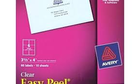 Avery Clear Mailing Labels A 80 Per Page Template 18660