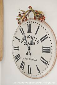 french wall clock from world market