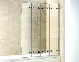 stunning disappearing shower door folding image of accordion glass contemporary seat hinges shub