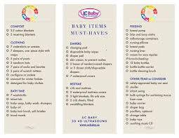 Baby Items Checklist Must Haves For The First Year Uc Baby