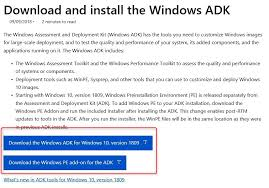 How To Update Windows Adk 1809 On A Sccm Server