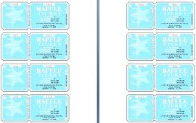 Play Ticket Template Raffle Sheet Template Bigdatahero Co