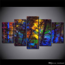 best framed hd printed colorful forest tree picture wall art canvas print decor poster canvas modern oil painting under 35 27 dhgate com on colorful wall art canvas with best framed hd printed colorful forest tree picture wall art canvas