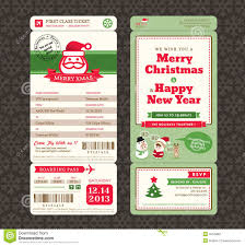 christmas card design boarding pass ticket template stock vector christmas card design boarding pass ticket template