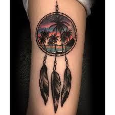 Hawaiian Dream Catcher Fascinating Tattoodo Catching Dreams Of Hawaiian Scenes Varo Tattooer Via
