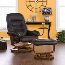 super ergonomic black leather reading chair with ottoman for bedroom a gallery of comfy reading