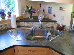 Kitchen Corner Sink Blanco Corner Sink With Raised Back Triangle Laminate
