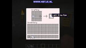 Light Grey Dye How To Create Light Gray Dye In Minecraft