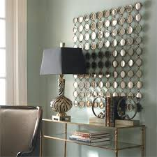 mirrored wall art about metal wall mirror decor modern