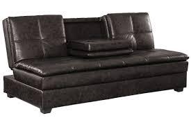brown leather convertible sofa bed  kingsley serta sofa