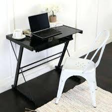 glass black computer desk home office glasetal black computer desk black glass computer table