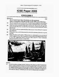 ICSE       English Paper    English Literature  Class X      Years