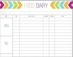 Food Diary Template Word Download Free Ecosolidario Co