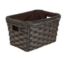 Amazon.com: The Basket Lady Jumbo Wicker Storage Basket, Small, Antique  Walnut Brown: Home & Kitchen