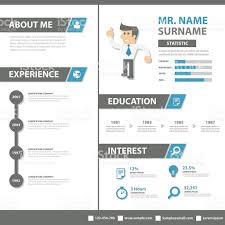 Creative Resume Business Profile Cv Vitae Template Layout Flat