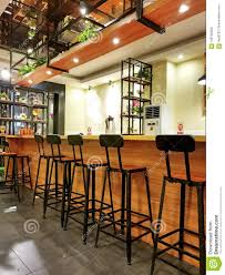 Simple Bar Counter Design Bar Interior With Empty Stools Stock Photo Image Of Dinner