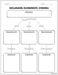 argumentative persuasive essay graphic organizer claim reasons  spanish argumentative persuasive essay planner claim reason evidence