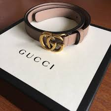 Light Pink Gucci Belt Dusty Pink Nude Gucci Marmont Belt Luxury Accessories