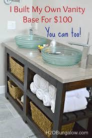 free bathroom vanity cabinet plans. diy open shelf vanity with free plans bathroom cabinet d