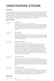 Peer Advisor Resume samples - VisualCV resume samples database