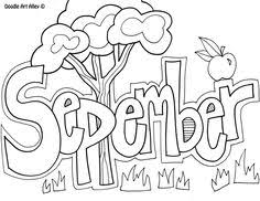 Small Picture September Coloring page Class Ideas Pinterest Free printable
