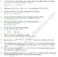 cbse class 10 mathematics pair of