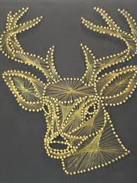Vintage Stag String Art Wall Hanging. - I would LOVE to own this ...