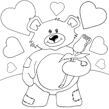 Small Picture free teddy bear and heart shape coloring pages Gianfredanet