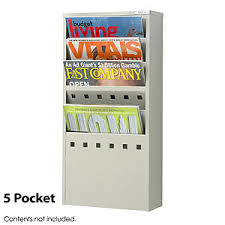 magazine racks for office. 5 pocket steel magazine rack racks for office
